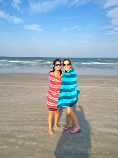 A little chilly on the beach.